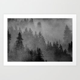 Charcoal Forest Art Print