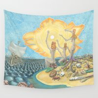 siren Wall Tapestries featuring Siren Garbage by David Domike