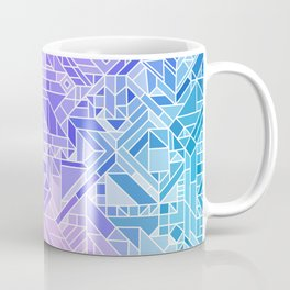 Cool Gradient (Violet Purple Blue Green) Geometric Pattern Print Design Coffee Mug