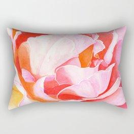 Beth's Rose Watercolor Rectangular Pillow