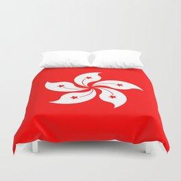 Hong Kong Flag Duvet Cover