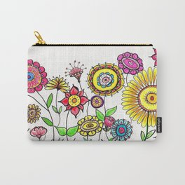 Bright Flowers Carry-All Pouch