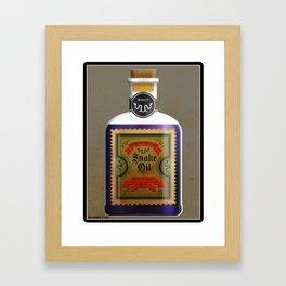 TRUMP'S BEST EVER SNAKE OIL, IT'S BIGLY! Framed Art Print