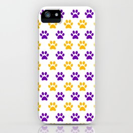 LSU Tiger Paw-Prints Iphone Case iPhone Case
