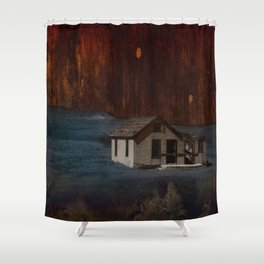 The Surface of Solitude-Hardship Shower Curtain