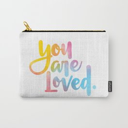 You are loved. (hand lettered) Carry-All Pouch