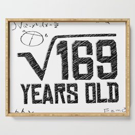 My age in square root Serving Tray