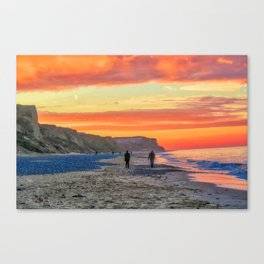 Cromer Beach at Sunset Canvas Print
