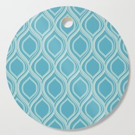 Abstract Turquoise Cutting Board