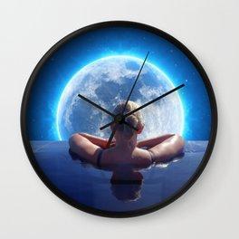 Pool Moon by GEN Z Wall Clock
