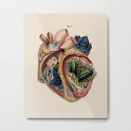 Crystal Heart Metal Print