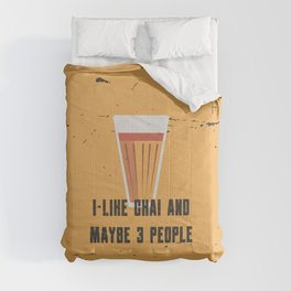 Funny Chai 3 People Quote Comforters