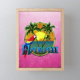 Pink Hawaii Sunset Framed Mini Art Print