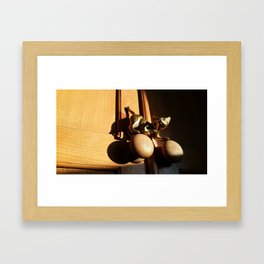 cats got a handle on it Framed Art Print