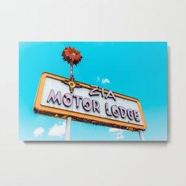 Zia Motor Lodge Metal Print