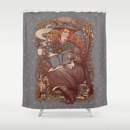 NOUVEAU FOLK WITCH Shower Curtain