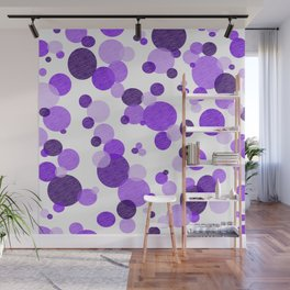 Purple Polka Wall Mural