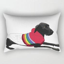Great Dane dog with a sweater Rectangular Pillow