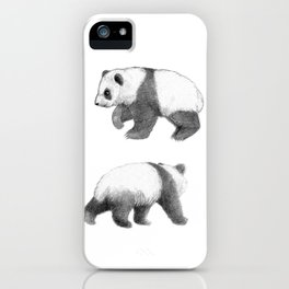 Walking Panda sketch SK062 iPhone Case