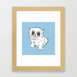 Black Metal Kitty Framed Art Print
