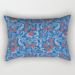 swedish christmas blue Rectangular Pillow
