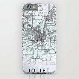 Joliet, IL, USA, White, City, Map iPhone Case
