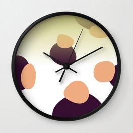 Simple, design dots gold Wall Clock