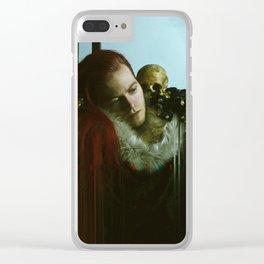Nature Morte Glitch Clear iPhone Case