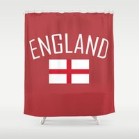 england Shower Curtains featuring England by Earl of Grey