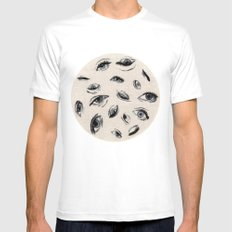 Eyes MEDIUM White Mens Fitted Tee