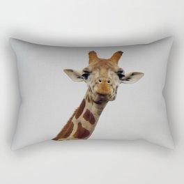 Giraffe Gaze Rectangular Pillow