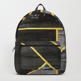 Geometric gold lines Backpack