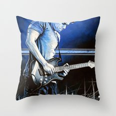 John Mayer Blues Throw Pillow