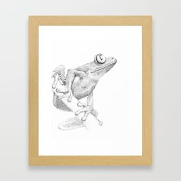 Dotted Frog Framed Art Print