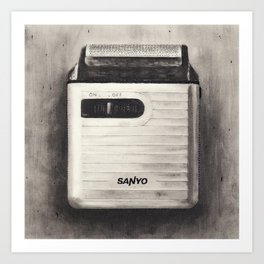 Sanyo Electric Shaver Art Print