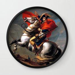 Jacques Louis David Napoleon Crossing the Alps Wall Clock