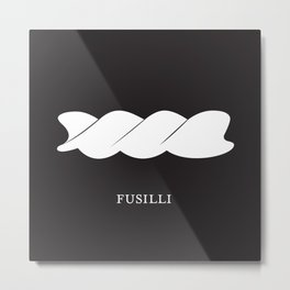 Pasta Series: Fusilli, Black  Metal Print