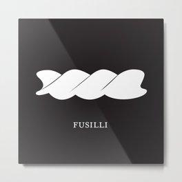 Pasta Series: Fusilli, Black  Metal Print