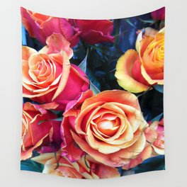 Bed of Roses Liberty of London flower market Wall Tapestry