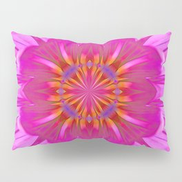 Kaleidoscope Neon Pink Daisy Pillow Sham