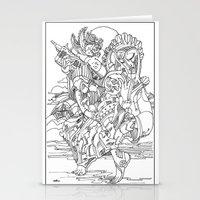 cyberpunk Stationery Cards featuring A Cyberpunk Madonna by Davide Caviglia