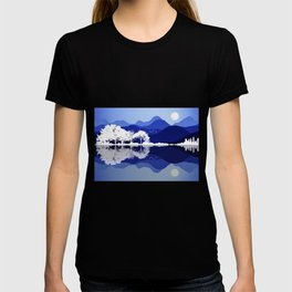 Acoustic Guitar Forest Nature Reflection Mountains T-shirt