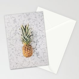Pineapple Marble Background Stationery Cards