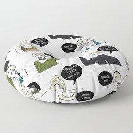 A Medley Print Floor Pillow