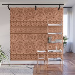 African Ethnic Tribal Ochre Pattern Wall Mural