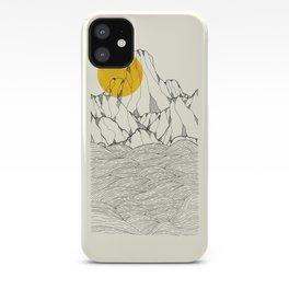 Sun and sea cliffs iPhone Case