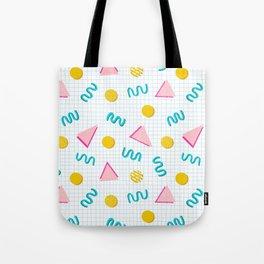 Geometric Memphis Tote Bag