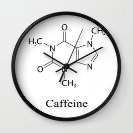 Caffeine Chemistry Wall Clock