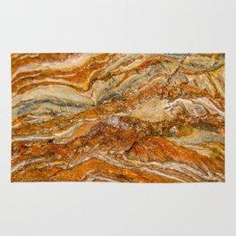 Orange Rock Texture Rug