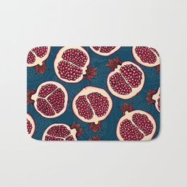 Pomegranate slices  Bath Mat